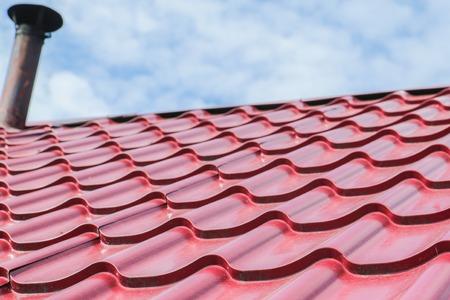 Foto de Metal sheet for industrial building and construction - Imagen libre de derechos