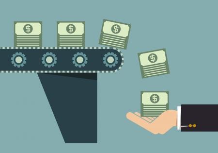 Illustration pour Money making machine, Business idea - image libre de droit