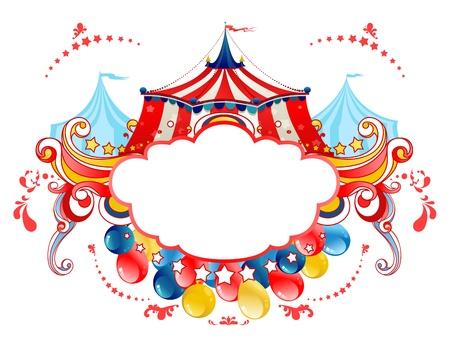 Illustration pour Circus tent frame  - image libre de droit