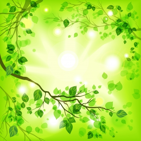 Illustration pour Spring light background - image libre de droit