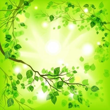 Ilustración de Spring light background - Imagen libre de derechos
