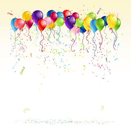 Illustration pour Festive  balloons with space for text - image libre de droit