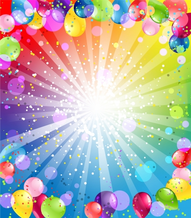 Illustration pour Festive background with balloons - image libre de droit