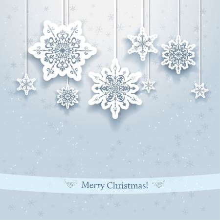 Illustration for Christmas design with decorative snowflakes - Royalty Free Image