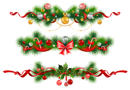 Illustration for Christmas decoration with  spruce  tree - Royalty Free Image