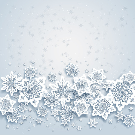 Illustration for Abstract background with snowflakes  Space for your text   - Royalty Free Image