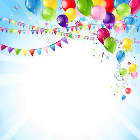 Ilustración de Happy holiday background with space for text - Imagen libre de derechos