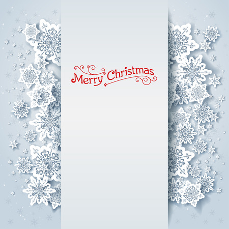 Illustration pour Winter holiday background with space for text - image libre de droit