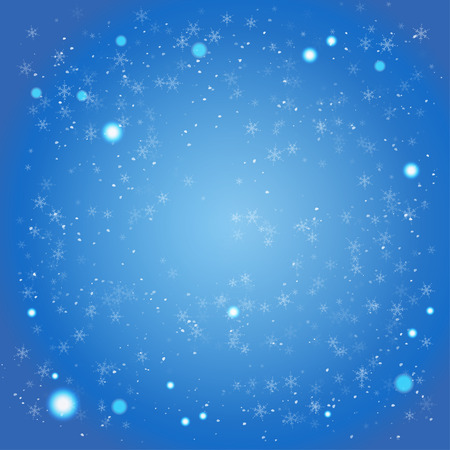 Illustration for Winter blue background with space for text - Royalty Free Image