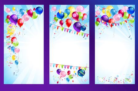 Illustration pour Holiday banners. Raster version - image libre de droit