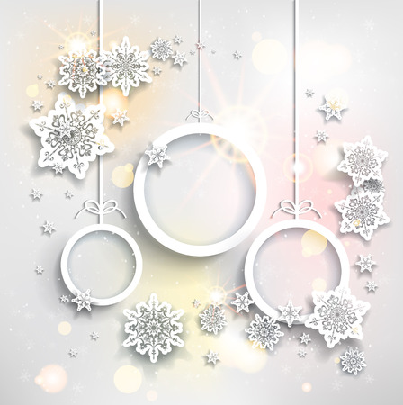 Ilustración de Shining holiday background with  Christmas decorations - Imagen libre de derechos