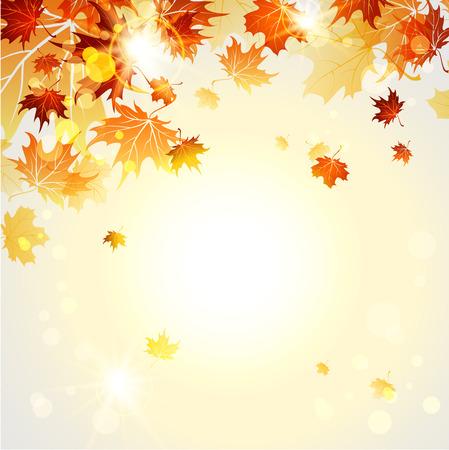 Ilustración de Beautiful autumn background with place for text. Raster version - Imagen libre de derechos