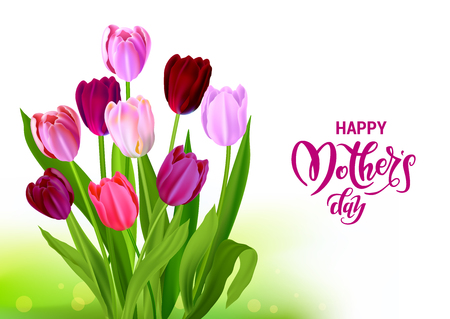 Ilustración de Holiday Mothers day card - Imagen libre de derechos