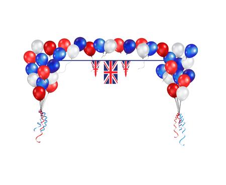 Illustration pour United Kingdom symbols set flag banner - image libre de droit