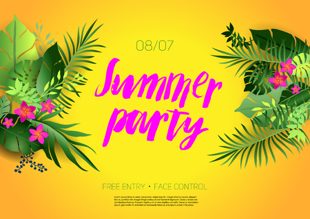 Illustration for Summer party fun - Royalty Free Image