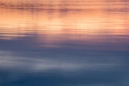 Photo for Lake reflection sunset - Royalty Free Image