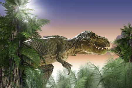 Foto de dinosaur in the jungle - Imagen libre de derechos