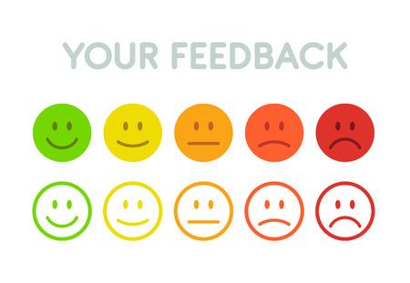 Ilustración de Set faces scale feedback - isolated vector illustration - Imagen libre de derechos