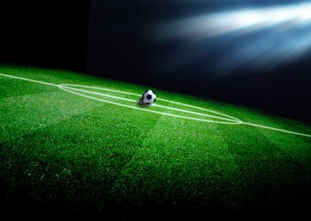 Photo pour soccer field and the bright lights - image libre de droit