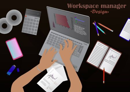Illustration for Workspace manager - Royalty Free Image
