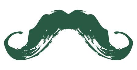 Illustrazione per Hand drawn mustache icon. Mustache for barbershop. Vintage retro grunge style. Vector - Immagini Royalty Free