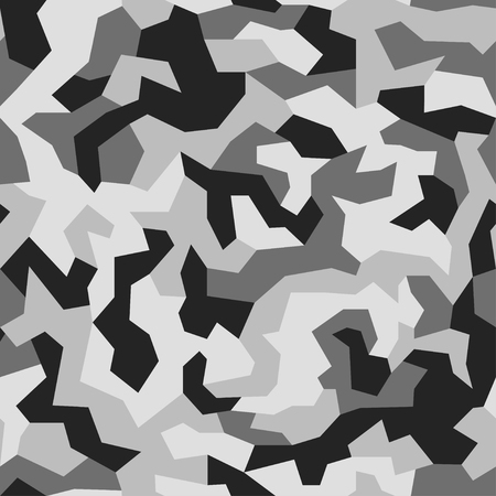 Illustration pour Geometric camouflage background. Modern fashion wallpaper. Army monochrome texture. Vector trendy camo pattern - image libre de droit