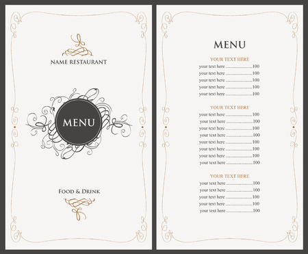 Ilustración de menu for the restaurant in retro style - Imagen libre de derechos
