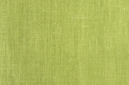 green close up linen texture background