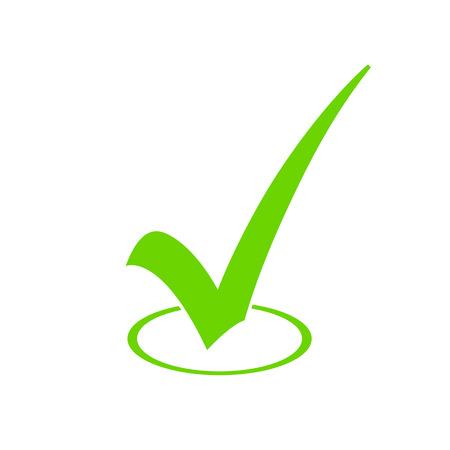 Illustration pour Green Check Mark Icon - image libre de droit