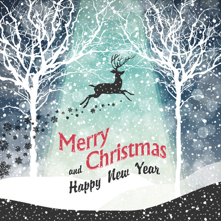 Illustration for Merry Christmas Greeting Card - Royalty Free Image
