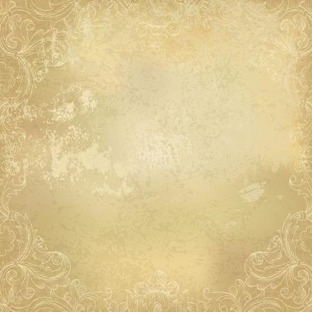Photo pour Aged vintage ornamental old paper background. Vector illustration - image libre de droit