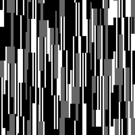 Illustration for Seamless black and white pattern, vertical lines - Royalty Free Image