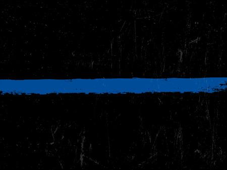 Illustration pour The Thin Blue Line. Police symbol. - image libre de droit
