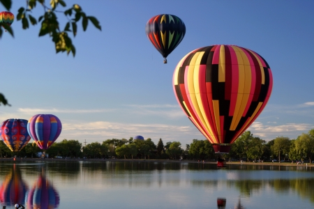 Photo for hot air balloon event pilots flight - Royalty Free Image