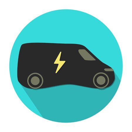 Ilustración de electric eco vehicle icon flat design vector illustration - Imagen libre de derechos