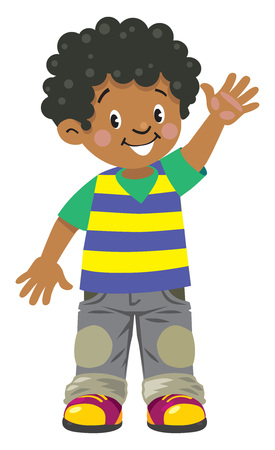 Illustration pour Funny little african boy - image libre de droit