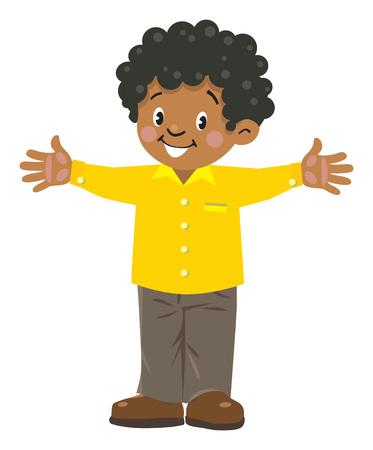 Illustration pour Funny little african boy - image libre de droit