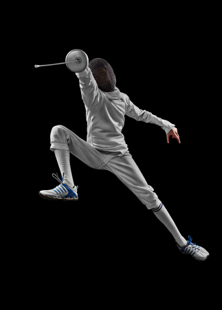 Photo for male fencer in action - Royalty Free Image