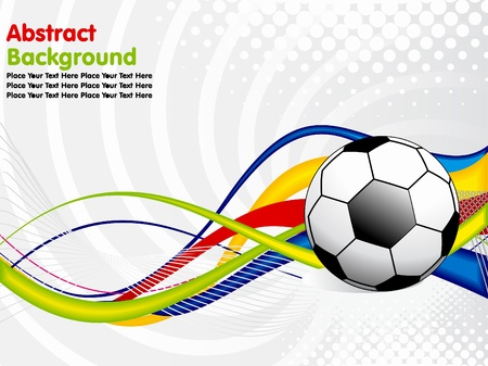 abstract football concept  vector illustration