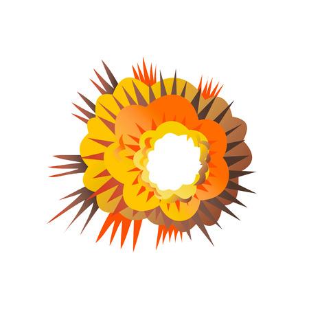 Ilustración de Retro style illustration of a bomb explosion exploding on isolated background. - Imagen libre de derechos