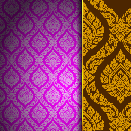 Photo for thai pattern background vintage vector - Royalty Free Image