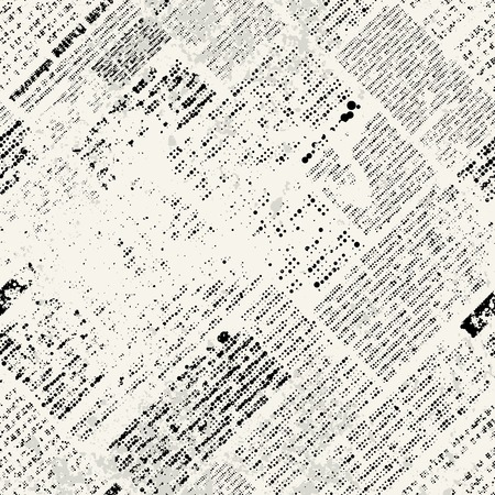 Photo for Seamless background pattern. Imitation of grunge newspaper - Royalty Free Image