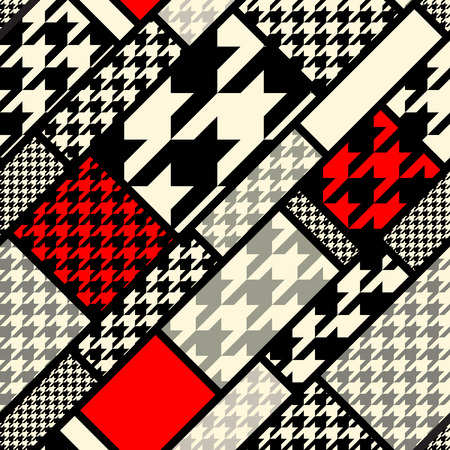 Photo for Seamless background pattern. Diagonal geometric pattern fron houndstooths patterns. - Royalty Free Image