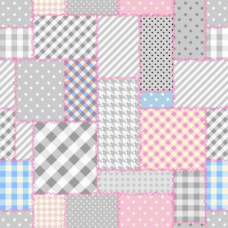 Ilustración de Geometric patchwork pattern of a geometric shapes. - Imagen libre de derechos