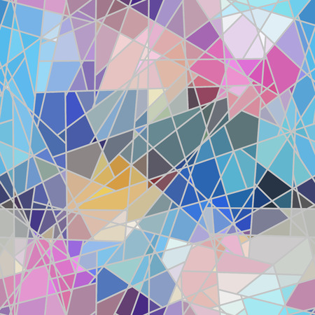 Photo pour Seamless background pattern. Irregular decorative geometric mosaic art tile pattern from uneven broken pieces. - image libre de droit