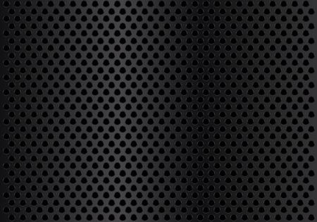 Illustration pour Abstract dark metal circle mesh background texture vector illustration. - image libre de droit
