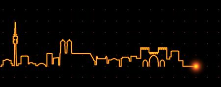 Ilustración de Munich Light Streak Skyline - Imagen libre de derechos
