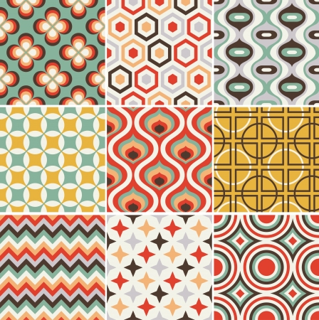 Photo pour seamless retro pattern  - image libre de droit