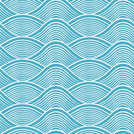 Photo pour japanese seamless ocean wave pattern  - image libre de droit