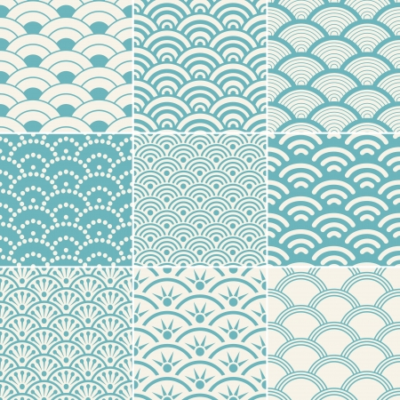 Photo pour seamless ocean wave pattern - image libre de droit